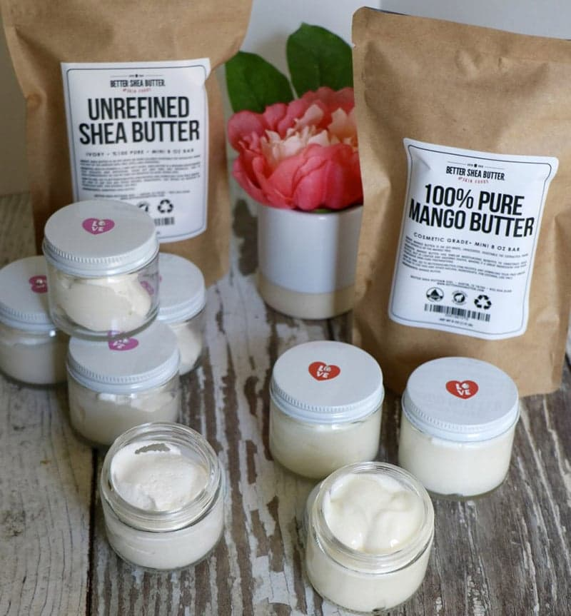 whipped shea butter vs. whipped mango butter