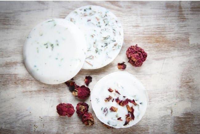dry rose petal soap