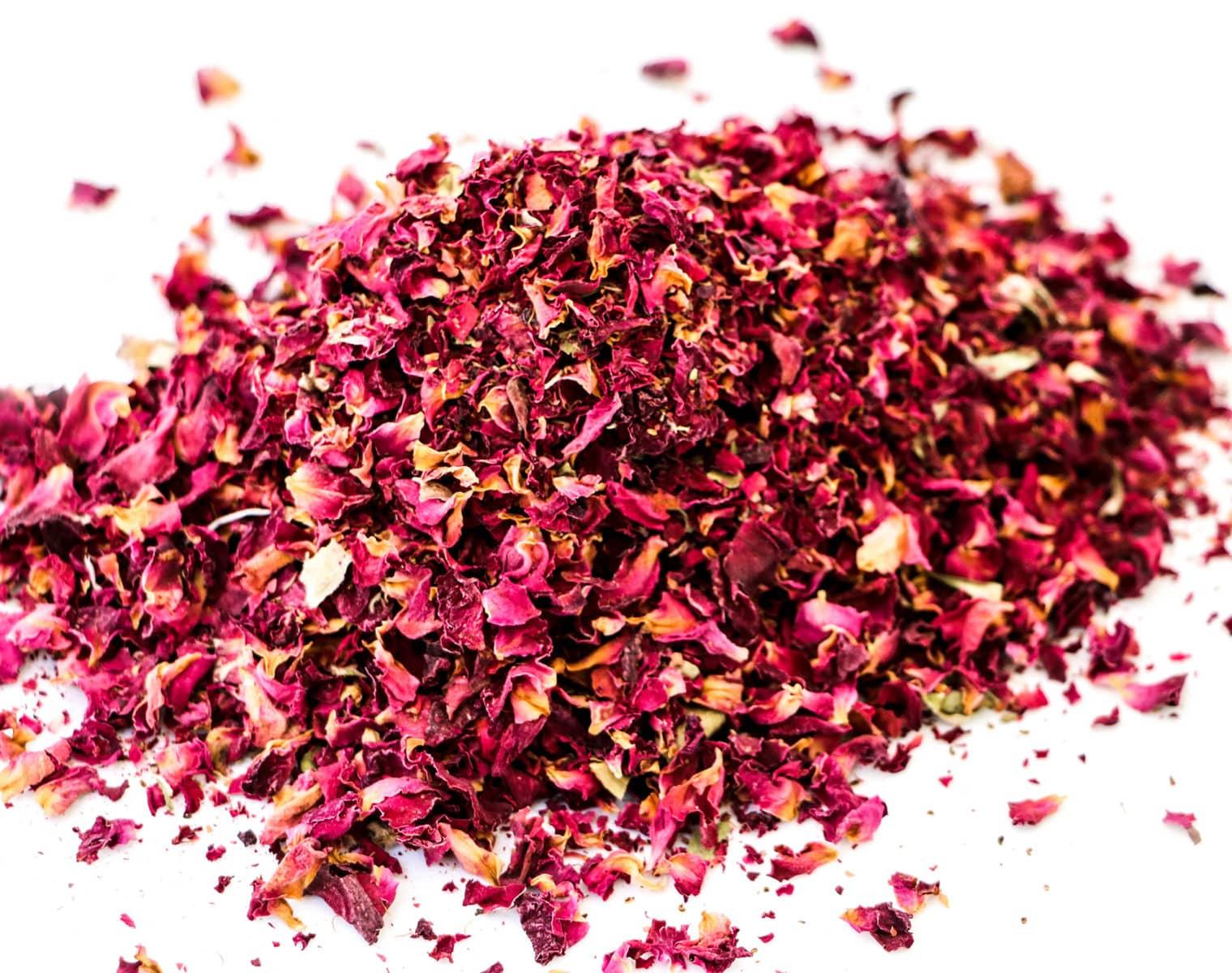 dry rose petals