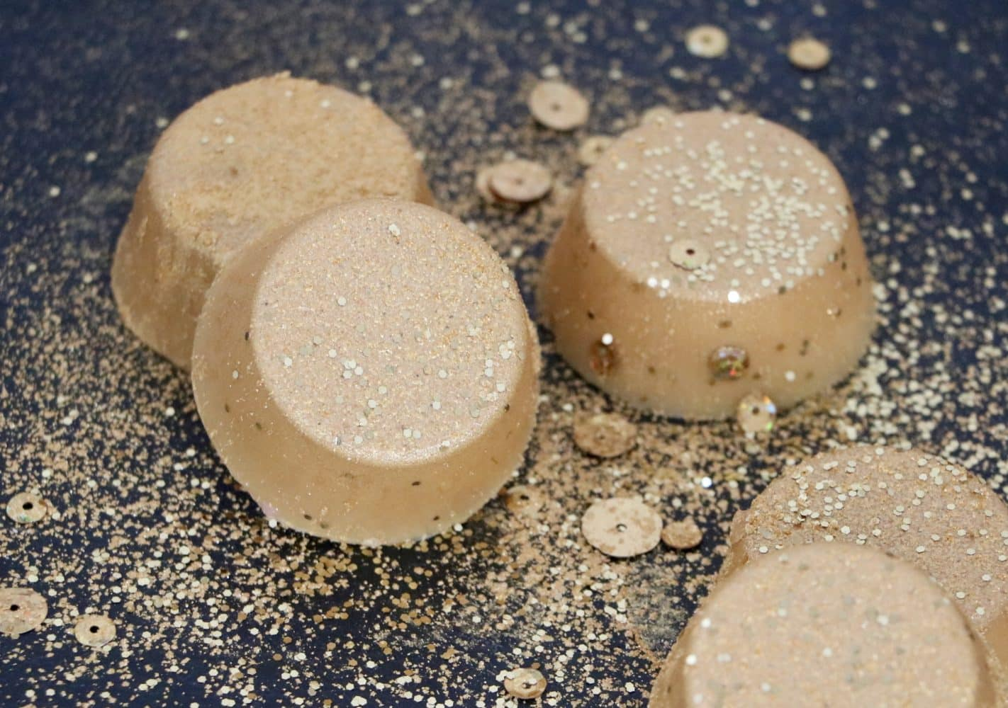 cocoa lotion bars with glitter