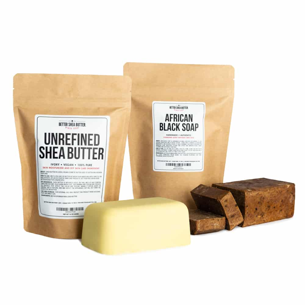 shea butter and black soap